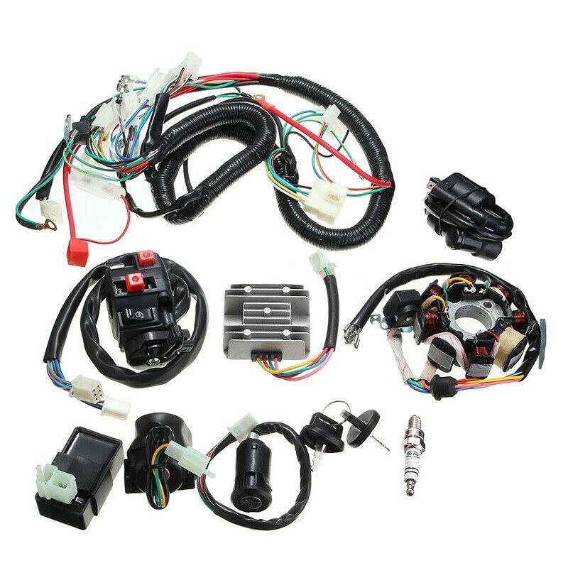 Ebay Advertisement Full Electrics Wiring Harness Wire Part For Atv Quad Cg150 200 250cc Stator Cdi Atv Quads 250cc Quad
