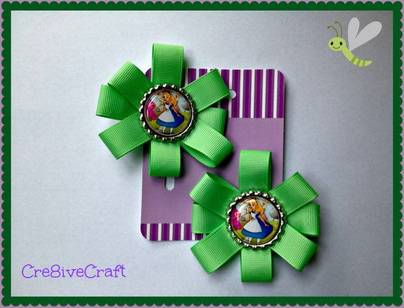 Alice in Wonderland Hair Clips by Cre8iveCraft on Etsy, $5.00