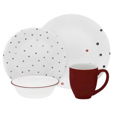 Corelle® Dinnerware Set 16pc Multicolored Poka Dot  Target  sc 1 st  Pinterest & Corelle® Vive™ 16pc Dinnerware Set Polka Dottie | Dinnerware and Target