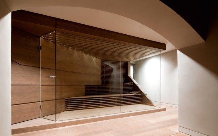 Wunderbar moderne Sauna private wellness Pinterest - sauna designs zu hause