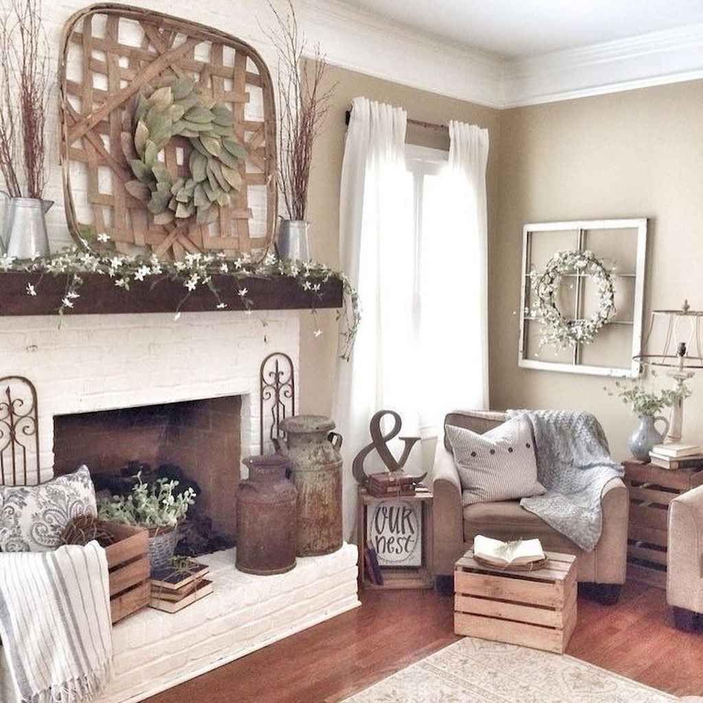 85 cozy and warm rustic livingroom decor ideas on a budget