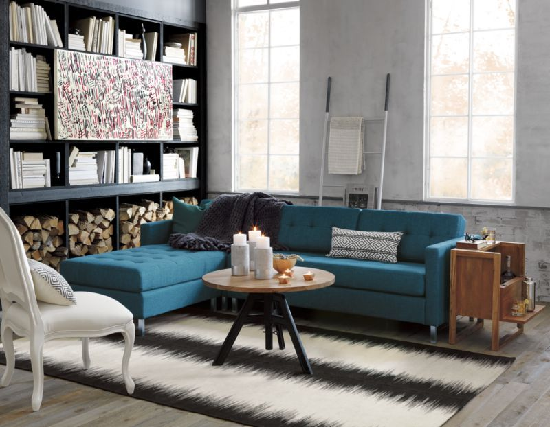 Ditto Peacock Sectional Modern Sofa Sectional Blue Sofa Inspiration Sofa Inspiration