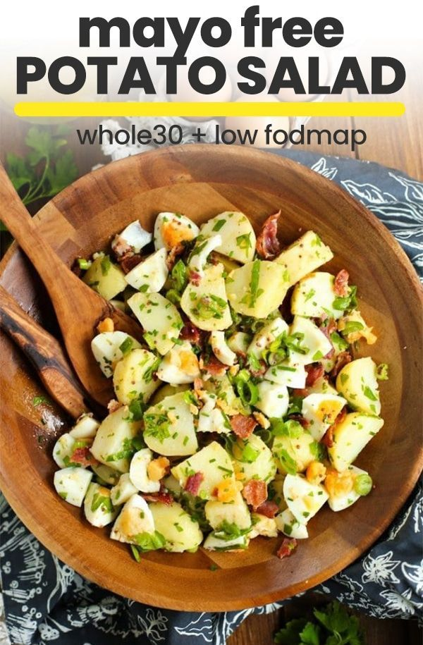No Mayo Potato Salad With Herbed Bacon Amp Eggs Recipe