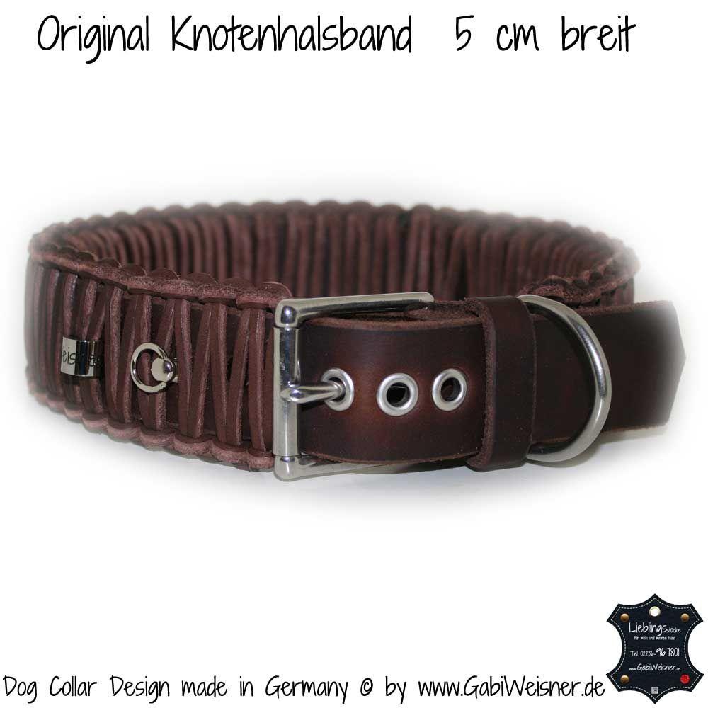 Hundehalsband Leder 5 cm breit geflochten | Hundehalsband Leder ...