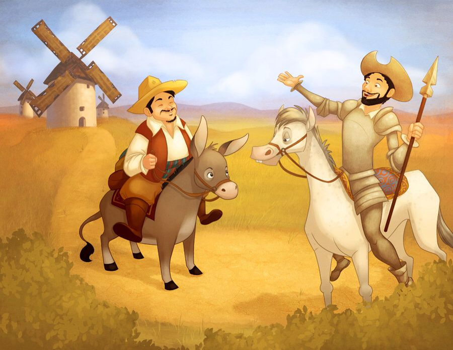 Don quixote and sancho at the windmills don quixote pinterest don quixote and sancho at the windmills fandeluxe Gallery