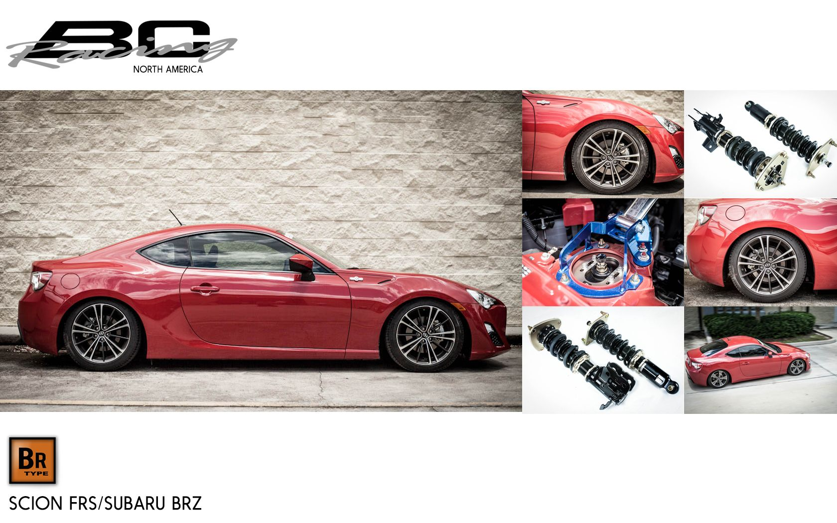 BC Racing Coilovers for Scion FR-S and Subaru BRZ