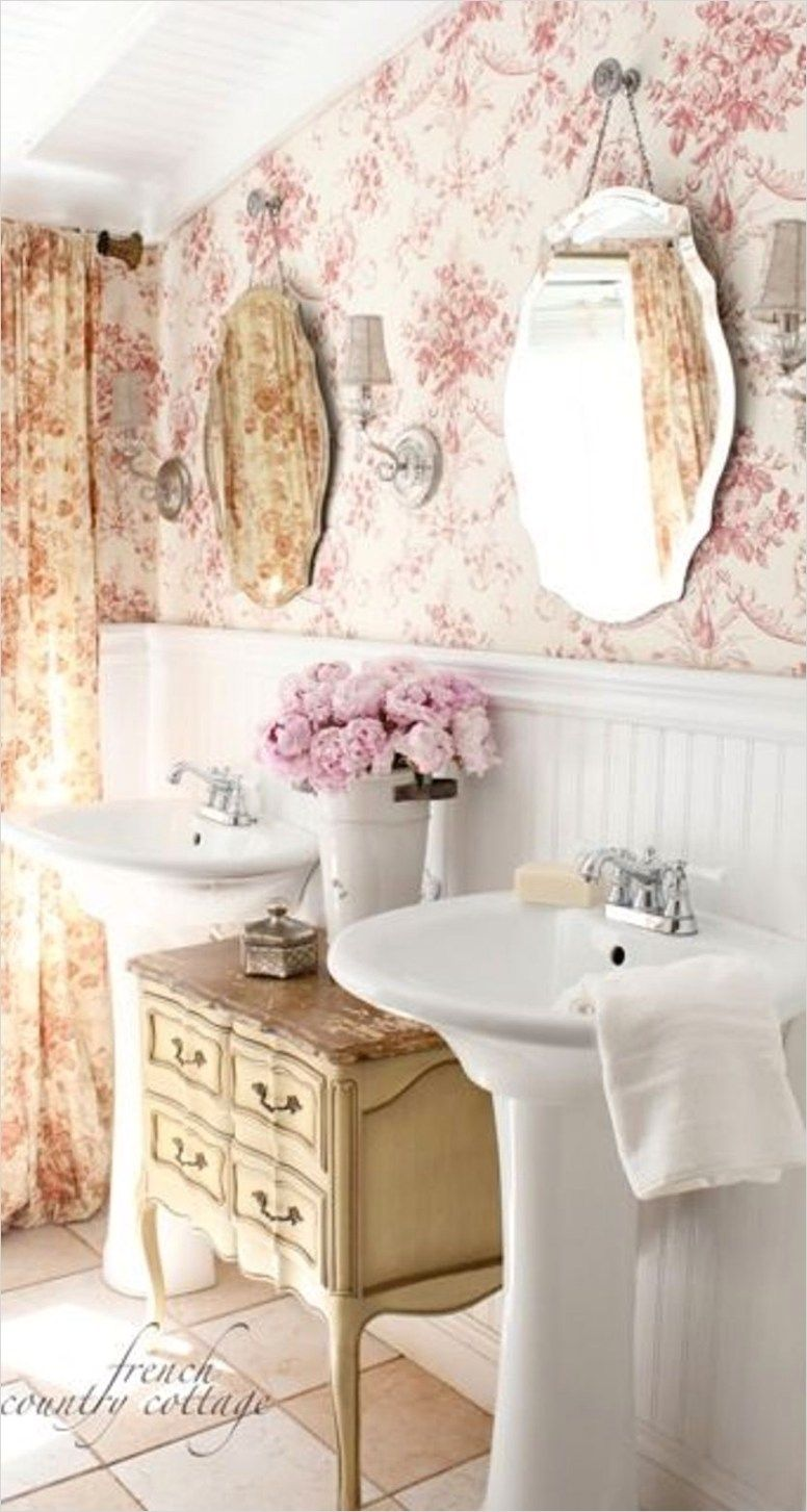 40 Stunning French Country Small Bathroom That Will Amaze You - Country-bathroom-ideas-2