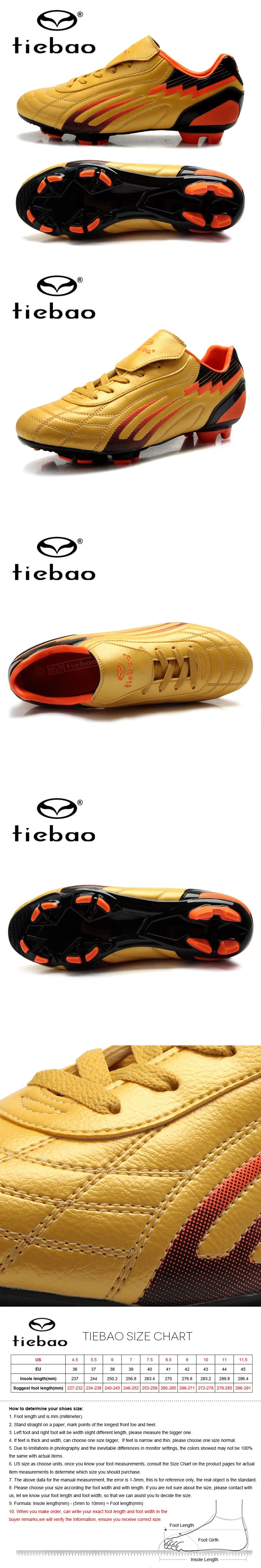 a9ead7e4ebd TIEBAO Professional Unisex Soccer Shoes Football Boots FG   HG Soles Soccer  Cleats For Adult Training