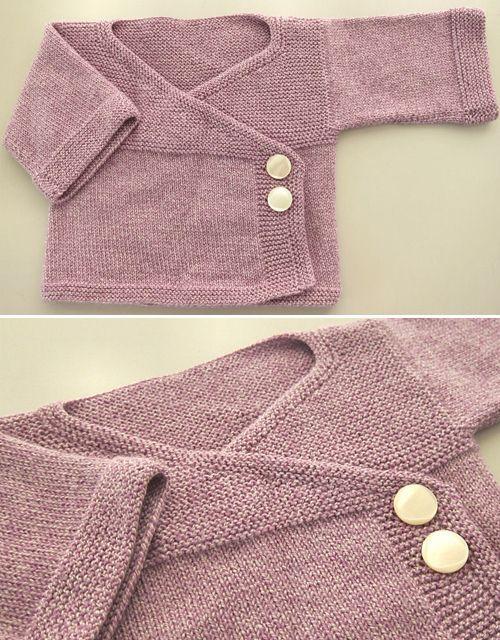 Baby Kimono - kostenlose Strickanleitung #strickanleitungbaby