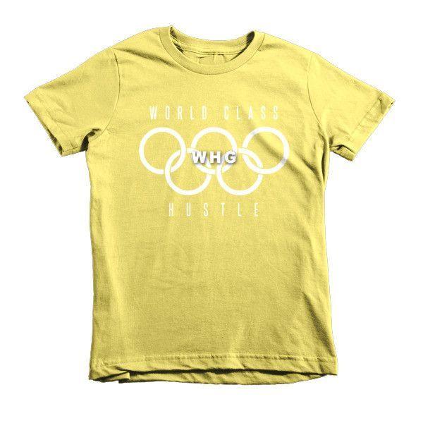 Short sleeve kids t-shirt - World Class Hustle #WHG