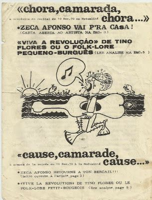 """Tributo a Zeca Afonso: 1970 - """"la Chanson de Combat Portugaise"""""""