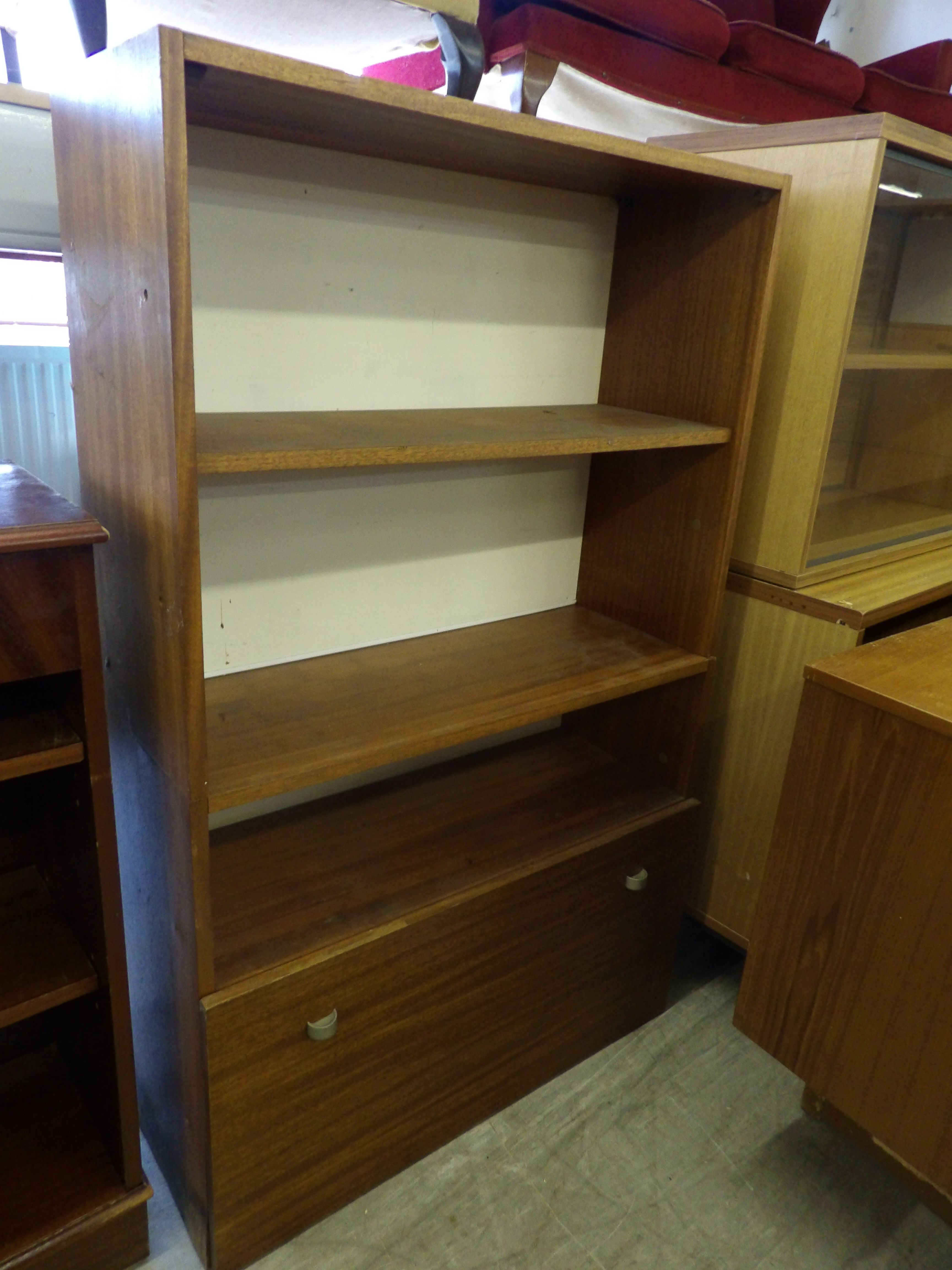 Shelves With Cupboard At The Bottom In RGF's Showroom was £5 now £4 (PC676) Further Discounts Available Instore On Selected Items