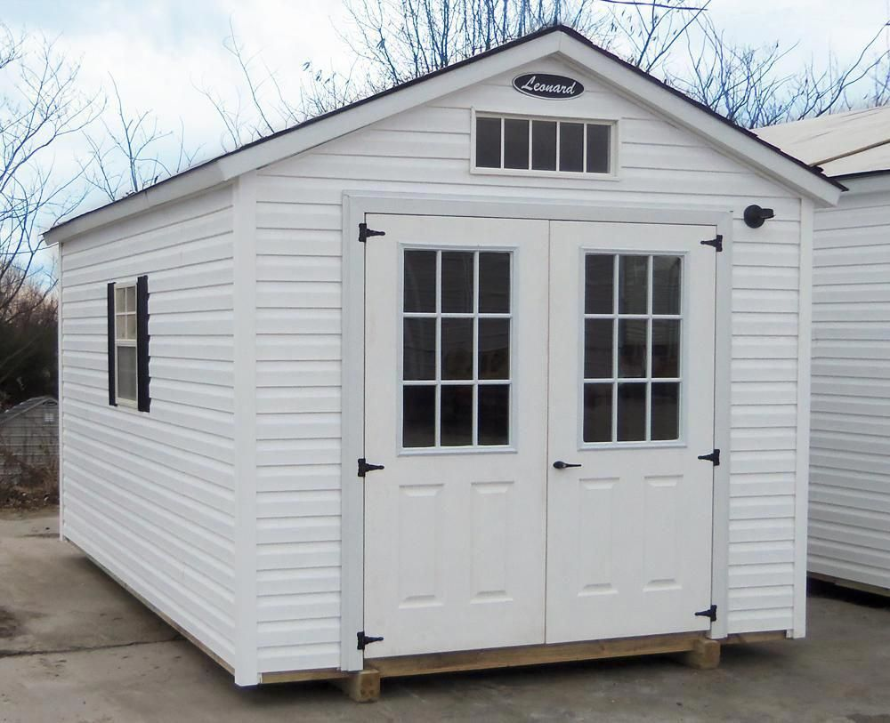 Vinyl Storage Sheds Leonard Buildings Truck Accessories Sheddesigns Vinyl Storage Sheds Backyard Cottage Metal Storage Buildings