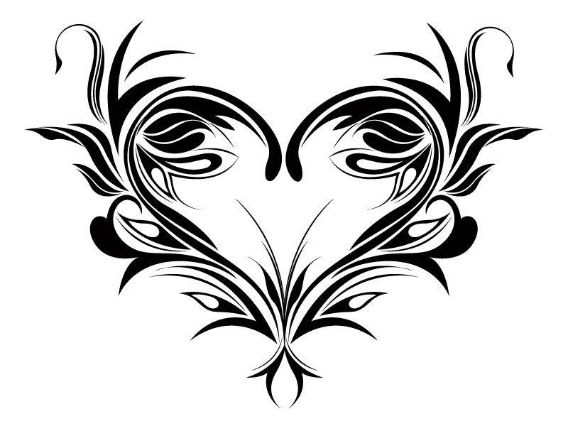 Tribal Eternal Love Tattoos Wandtattoo Tribal Love Heart Drawing Red Heart Tattoos Floral Drawing