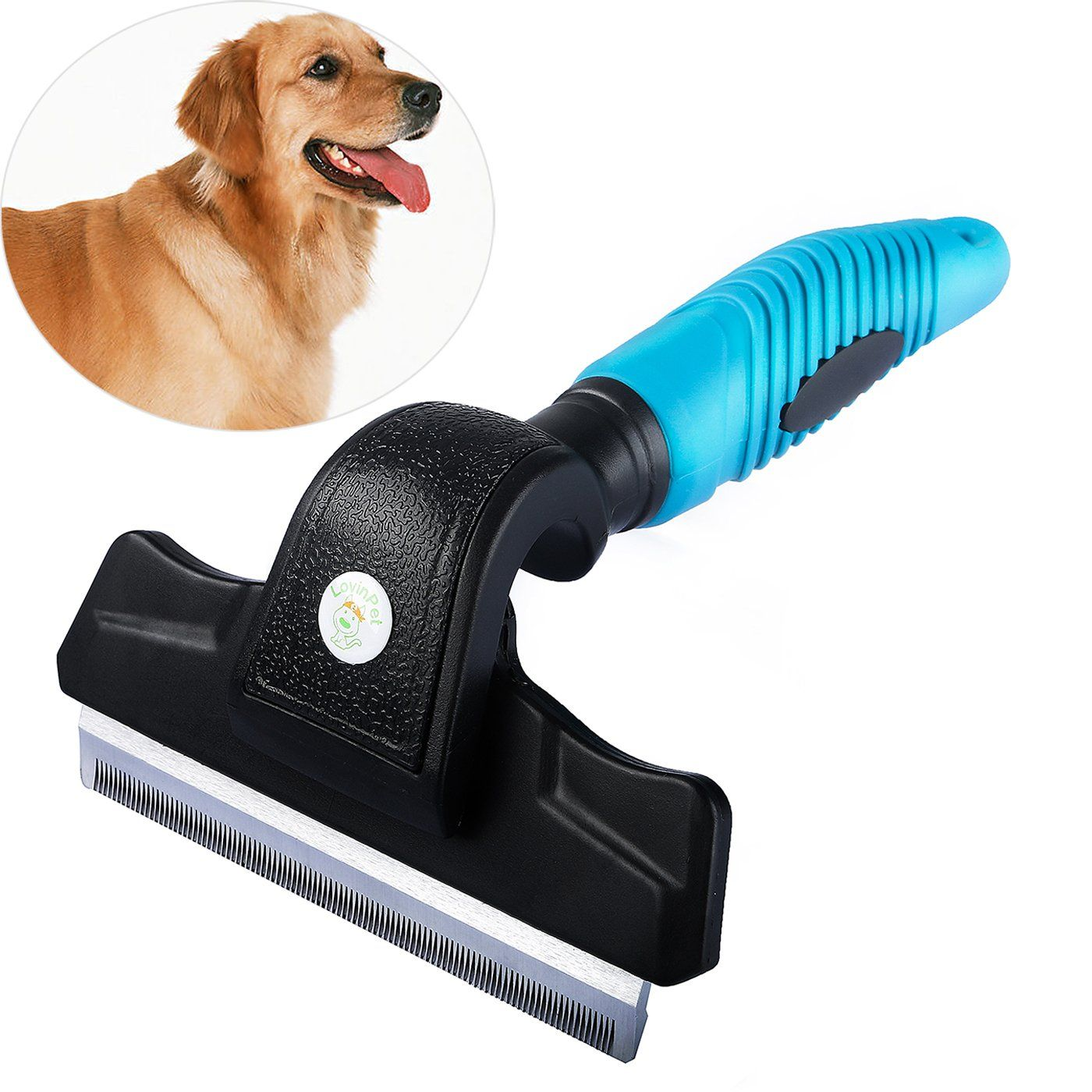 Lovinpet Dog And Cat Brush For Shedding Grooming Comb Stainless
