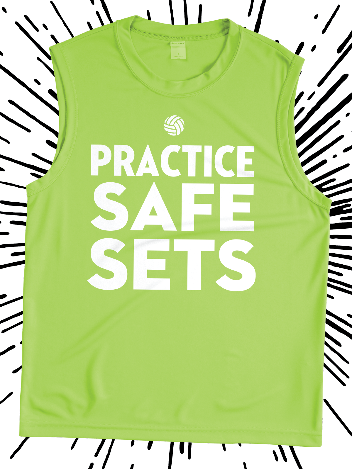 Practice Safe Sets Funny Design Idea For Custom Volleyball Jerseys Team Shirts League Shirts Tank Tops T Shirts Team T Shirts Shirt Designs Team Shirts