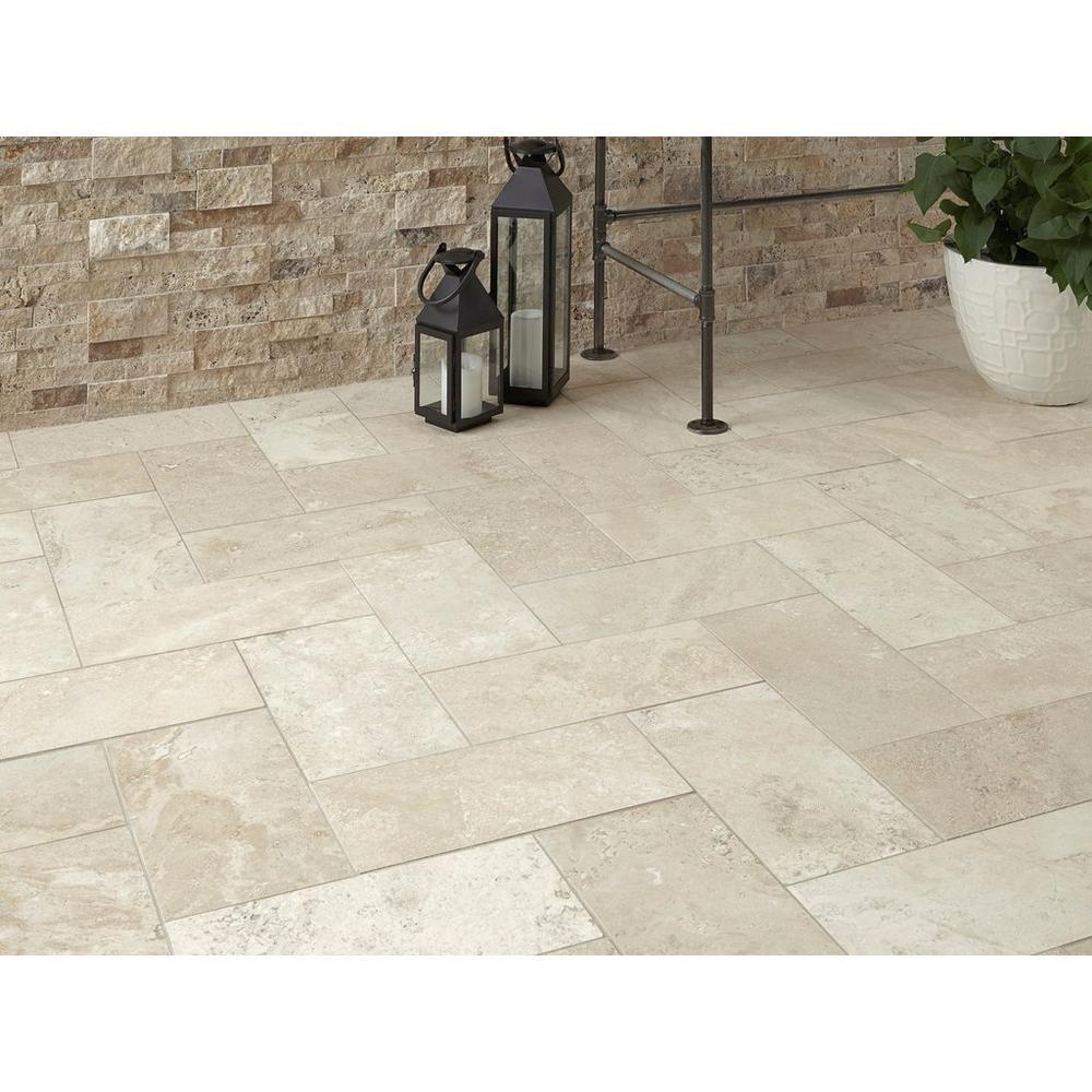 Cote D Azur Brushed Travertine Tile Floor Decor Travertine