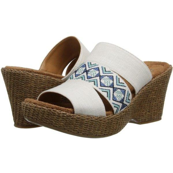 Womens Sandals Naturalizer Opal White Linen