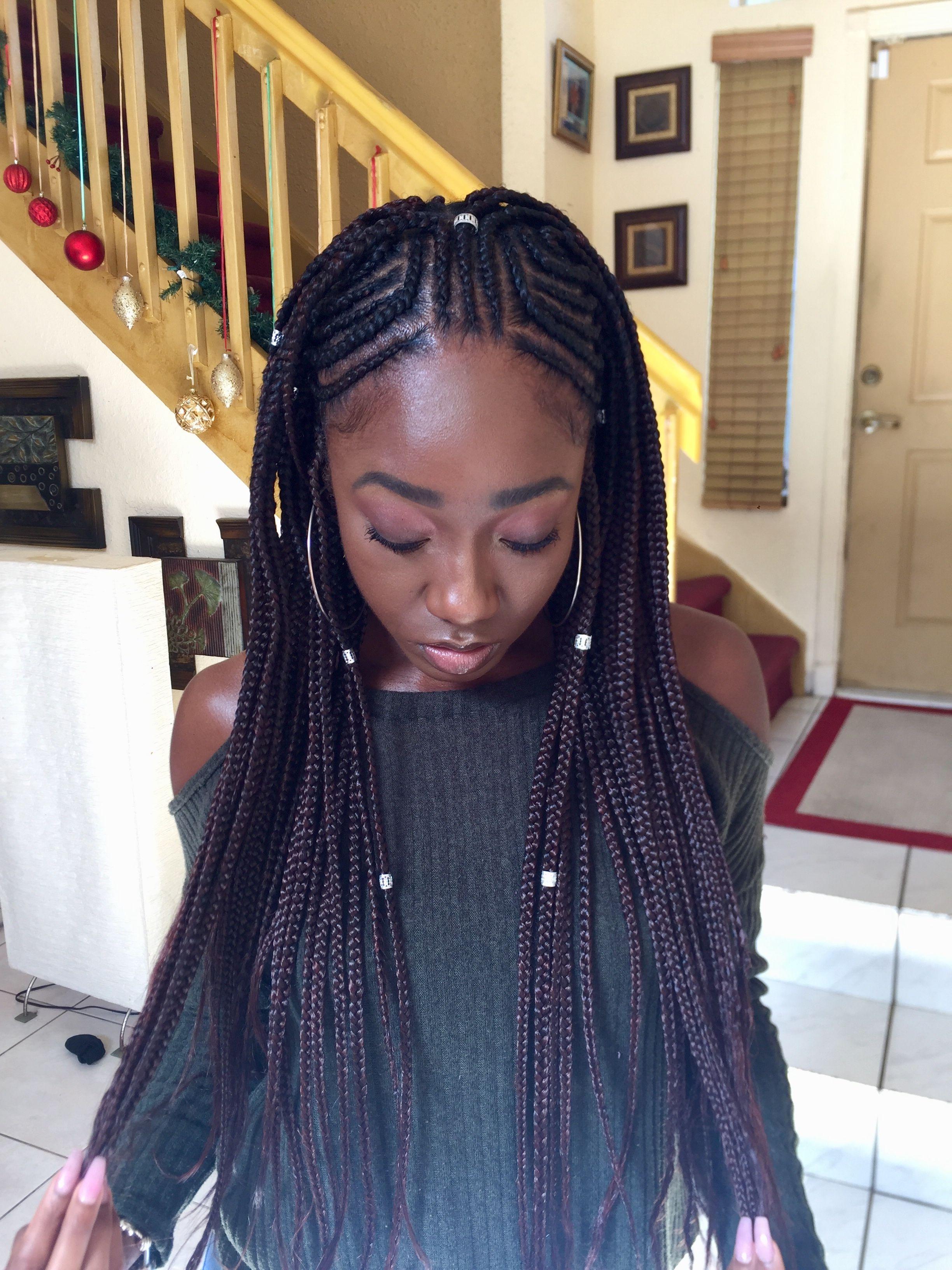 Box Braids Cornrows Type 4 Hair 4c Hair Natural Hair With