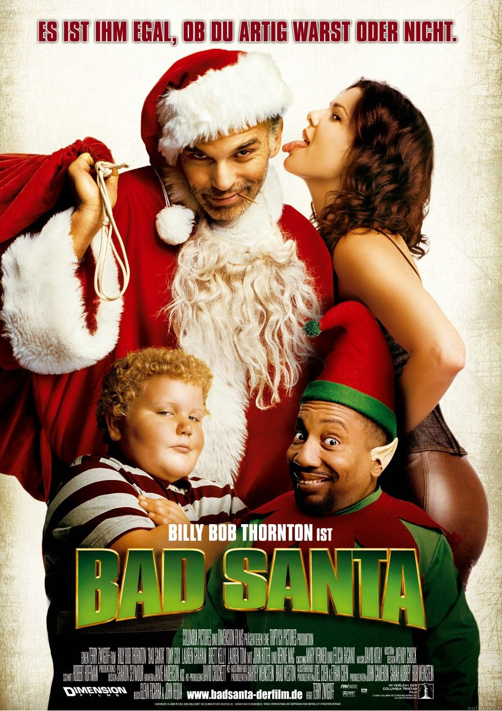 Bad Santa 2003 Usa Coumbia Dimension D Terry Zwigoff Billy Bob Thornton Tony Scott Lauren Graham Bernie Mac Best Christmas Movies Bad Santa Bernie Mac