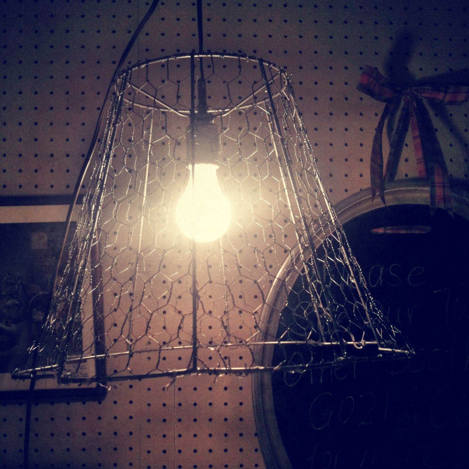 Chicken wire over a lamp shade frame could have a variety of chicken wire over a lamp shade frame could have a variety of embellishments mozeypictures Gallery