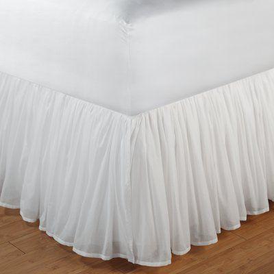 Astoria Grand Wendy Bed Skirt Wayfair Greenland Home Fashions White Bed Skirt Bedskirt