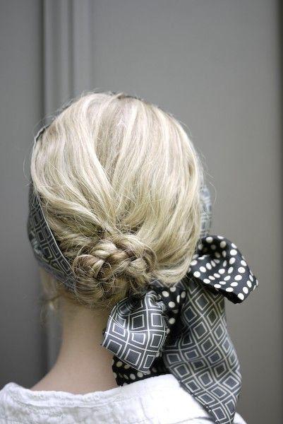 Coiffure Avec Foulard Cheveux Mi Longs Coiffure Avec Un Foulard 20 Idees Pour S Inspirer Elle Coiffure Avec Foulard Foulard Cheveux Belle Coiffure