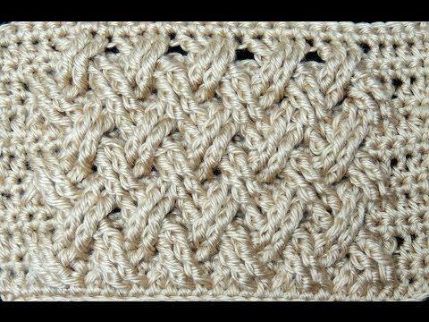 Kabels haken of weefsteek maken