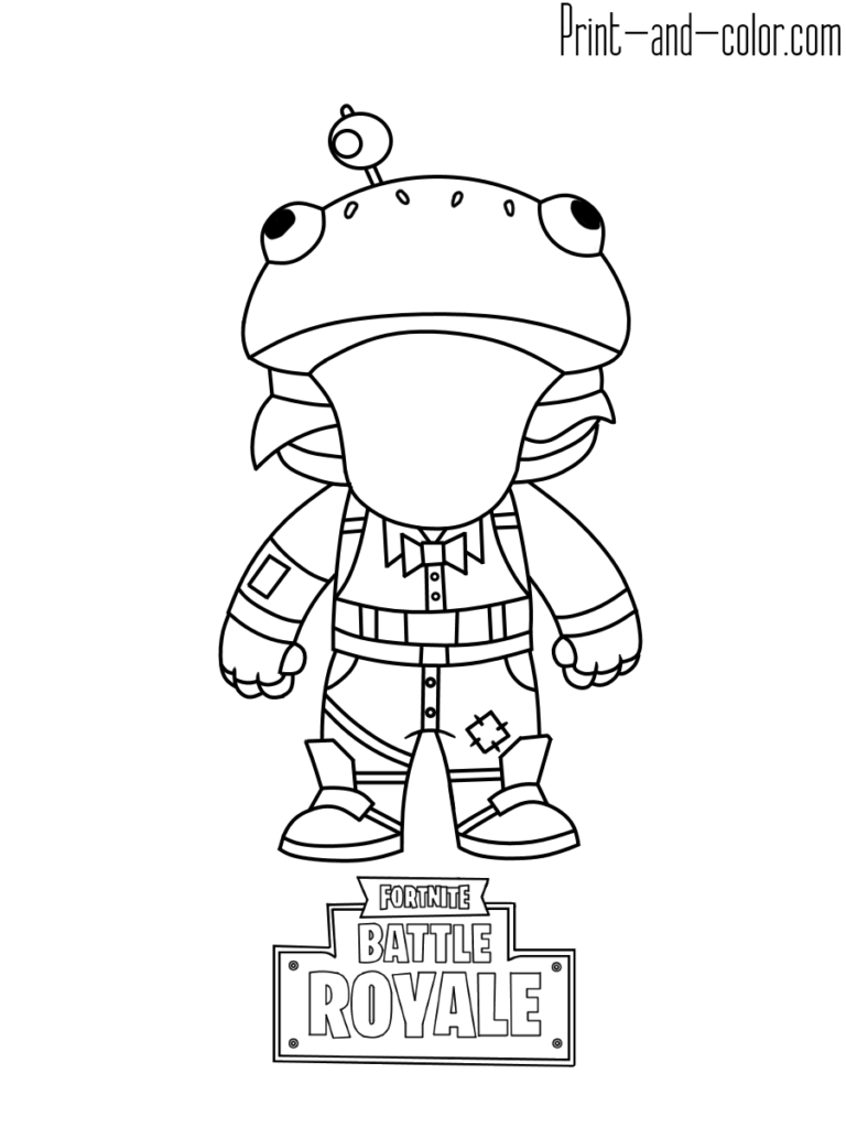 Fortnite battle royale coloring page beef boss
