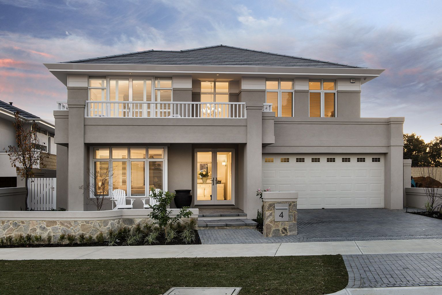 The Montauk Elevation Hamptons House Storey Homes House Exterior