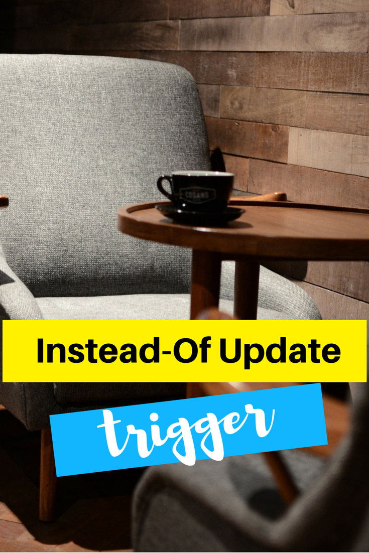 Learn how to create Instead-of Update trigger in #oracle