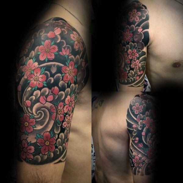 Top 101 Cherry Blossom Tattoo Ideas 2021 Inspiration Guide Cherry Blossom Tattoo Blossom Tattoo Japanese Tattoo Designs