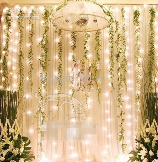 Wholesale Wedding Decorations Buy Wedding Decorations 300 Led Light 3m 3m Curtain Lights Christmas Romantic Wedding Lights Wedding Decorations Fairy Wedding