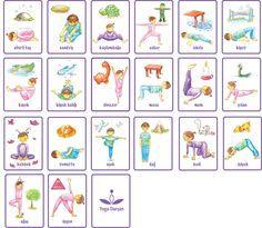 yoga pose cards for kids  yoga für kinder yoga posen