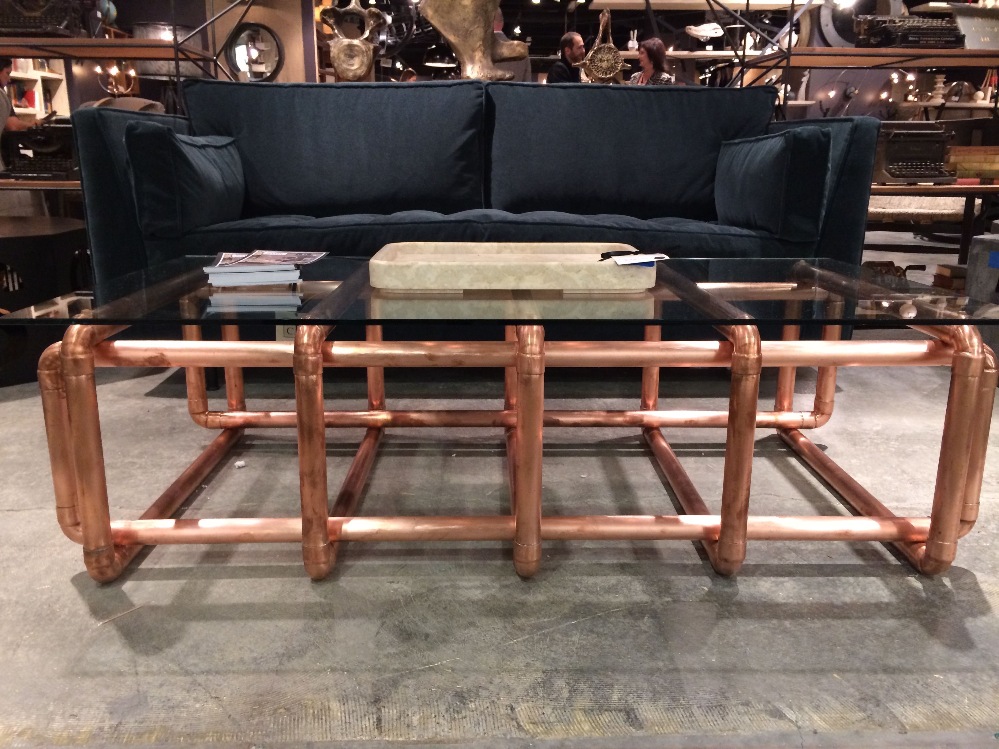Loving This Copper Pipe Coffee Table Happy Market Week