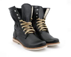 Dziurkowane Botki Za Kostke Skora Naturalna Model 428 Kolor Czarny Sklep Zapato Shoes Boots Combat Boots