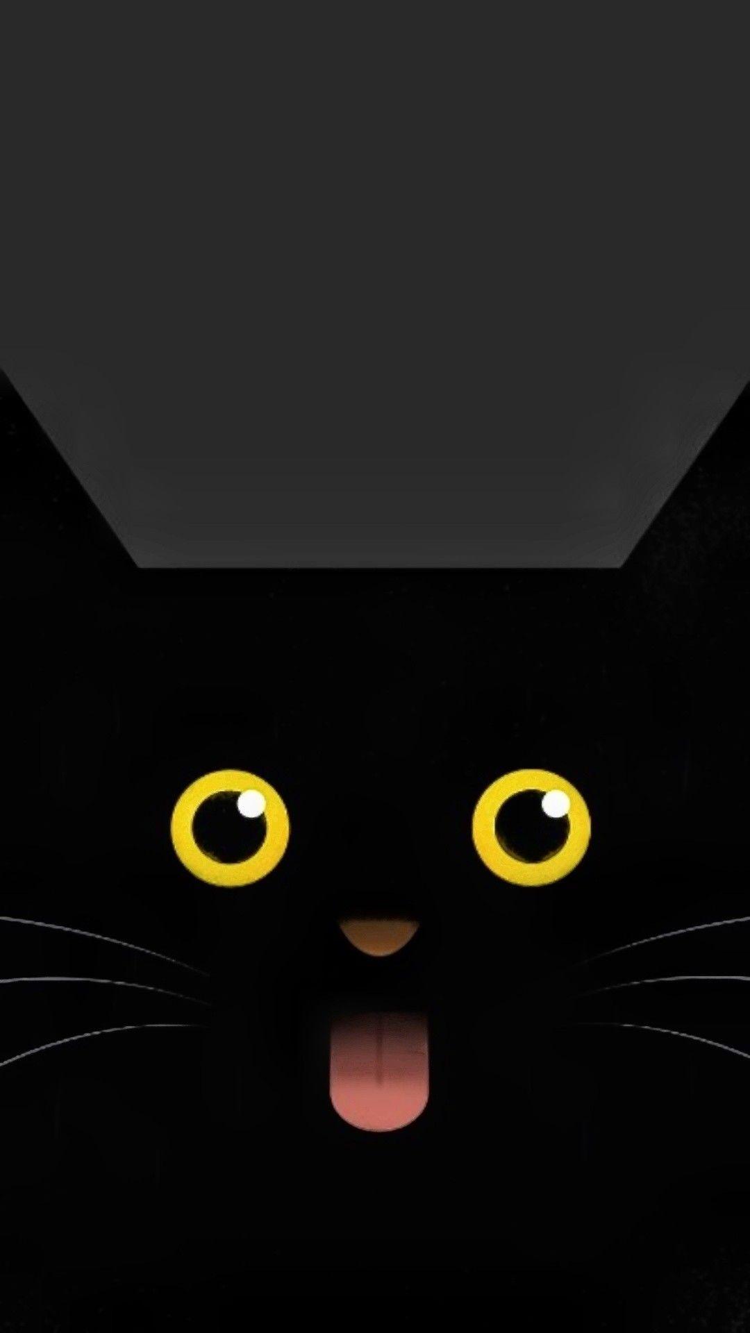 Black Cat Eyes Iphone Wallpaper Cat Phone Wallpaper Cat Wallpaper Android Wallpaper Black