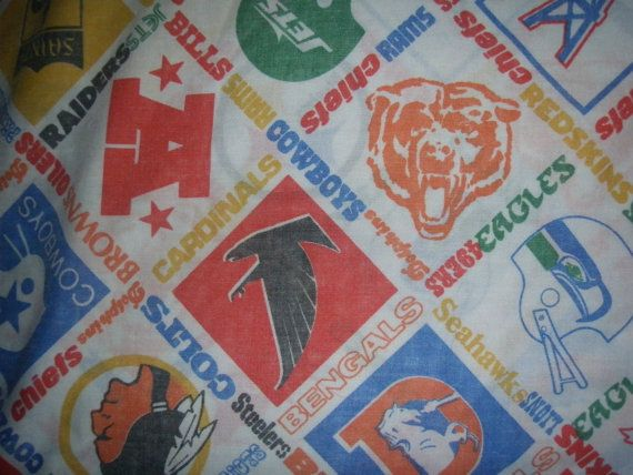 Hey, I found this really awesome Etsy listing at http://www.etsy.com/listing/150451408/vintage-football-teams-pillowcase