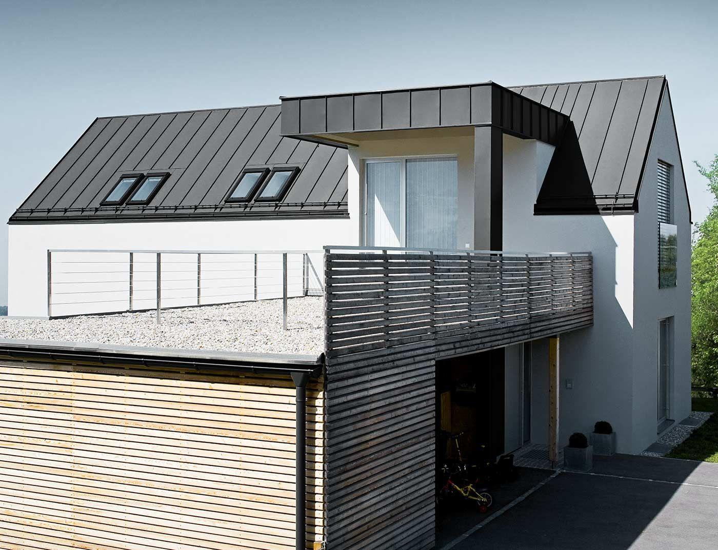Prefa Prefalz P10 Schwarz Jpg 1400 1073 Zinkdach Dachsysteme Haus