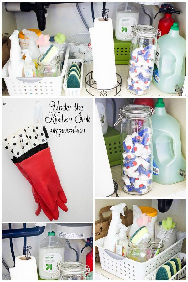 Organizing Under the Kitchen Sink Decor / Home Pinterest