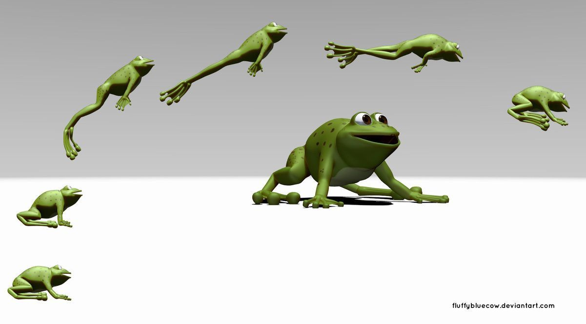 Image result for anatomy of a frog jump | Jump animation ...