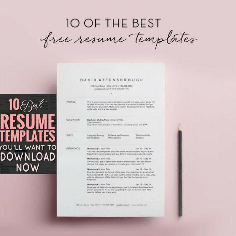 Best Resume Templates Resume Template Free Best Free Resume Templates Resume Templates