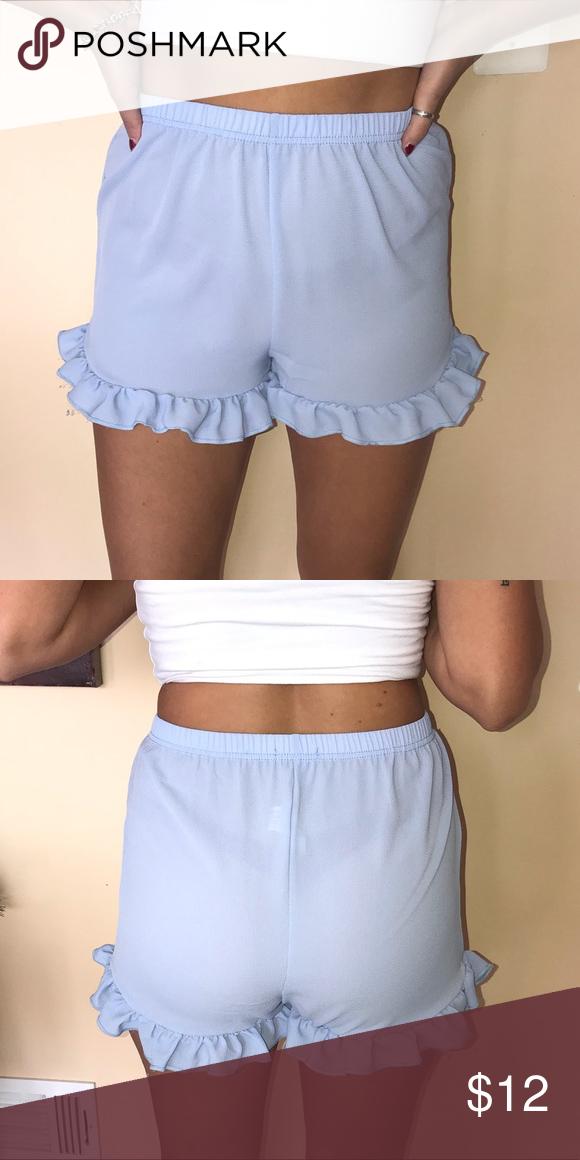 Boohoo light blue shorts Slightly mesh but if you wear light underwear it will be okay!! Size 10 shorts Boohoo Shorts #lightblueshorts Boohoo light blue shorts Slightly mesh but if you wear light underwear it will be okay!! Size 10 shorts Boohoo Shorts #lightblueshorts