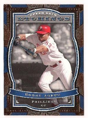 FREE SHIPPING 2004 Bobby Abreu Upper Deck Etchings Baseball Card #79