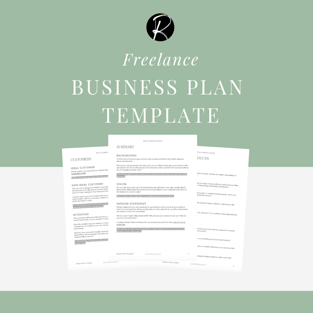 Freelance Business Plan Template (Free Download