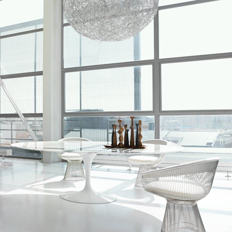 Knoll Saarinen Oval Dining Table Platner Dining Chair Saarinen Dining Table Saarinen Oval Dining Table