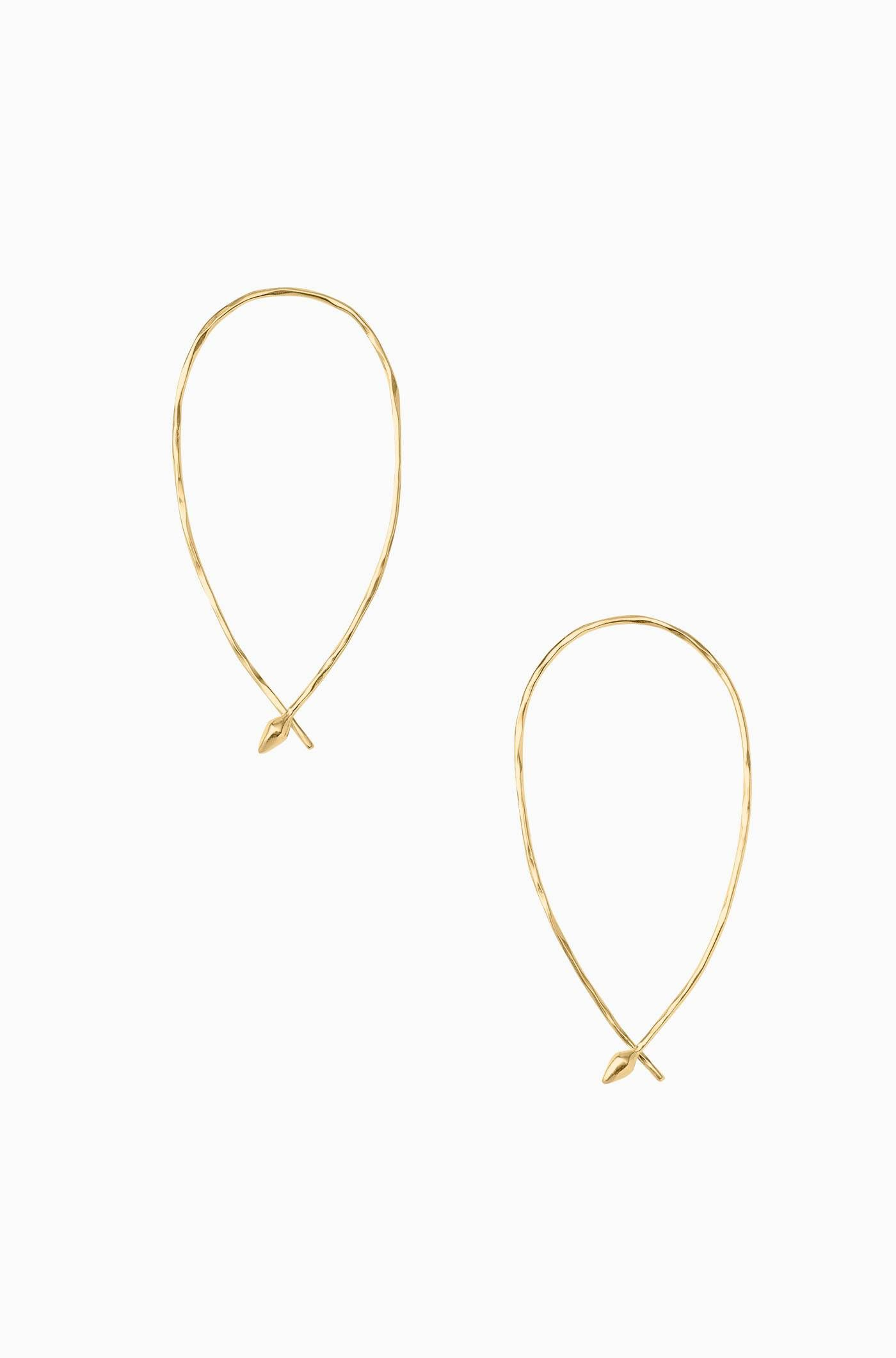 ed257d88bc425 Hammered Wire Small Hoops - Gold in 2019 | Accessories | Small gold ...