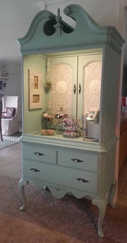 Bdg Style Idaho Project Kitchen: Coffee Station......using An Old Armoire.... Love This Idea!!!