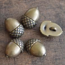 Bronze Acorn Button