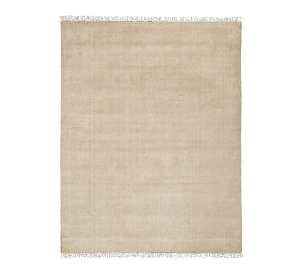 Fringed Hand Loomed Wool Rug 8x10